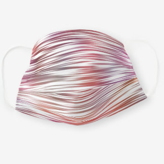 Hip Fun Coral Red Orange Pink Purple White Stripes Cloth Face Mask