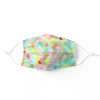 Hip Turquoise Blue Pink Mint Green Yellow Mosaic Adult Cloth Face Mask