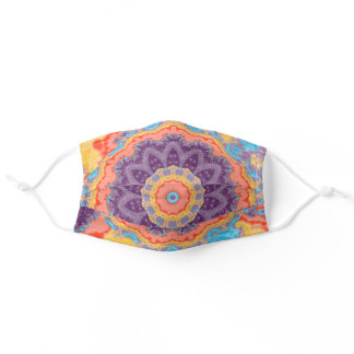 Hippie Bohemian Mandala Purple Mix Adult Cloth Face Mask