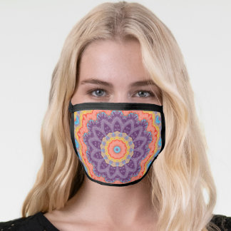 Hippie Bohemian Mandala Purple Mix Face Mask
