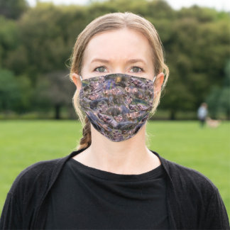 Hippo Photo Collarge, Adult Cloth Face Mask