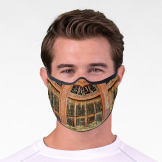 Historic Red Brick Roundhouse  Premium Face Mask