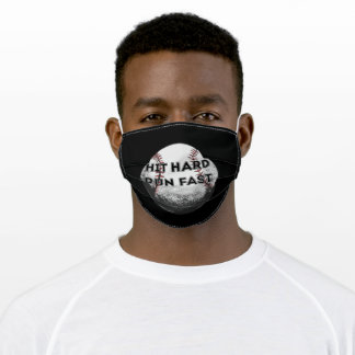 hit hard run fast adult cloth face mask