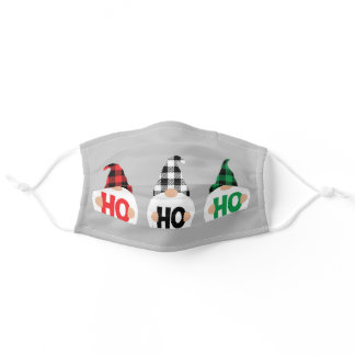 Ho Ho Ho Christmas Gnomes Adult Cloth Face Mask