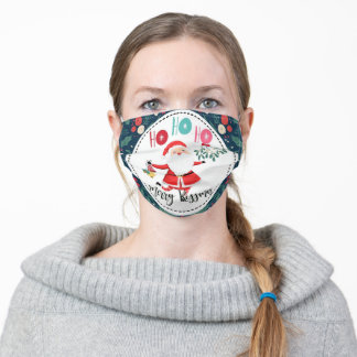 ho ho ho merry kissmass gift for boyfriend wife adult cloth face mask