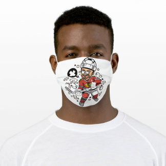 Hockey player adult cloth face mask
