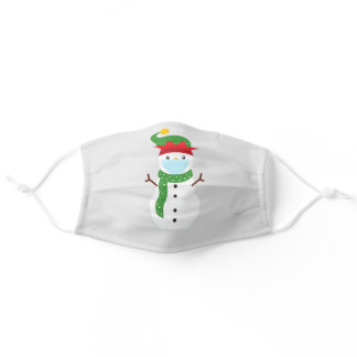 Holiday Christmas Snowman 2020 Quarantine Adult Cloth Face Mask