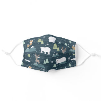 Holiday Winter in the Woods Adult Cloth Face Mask