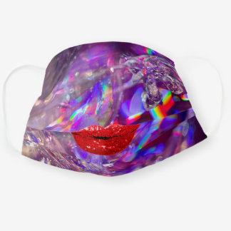 Holographic Purple Rainbow Red Kiss Lips Covid-19 Cloth Face Mask
