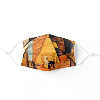Hombre in El Cafe by Juan Gris Adult Cloth Face Mask