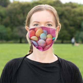 homemade colored easter eggs adult cloth face mask