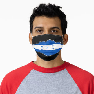 Honduran Pride | Faux Torn Out Look Adult Cloth A Adult Cloth Face Mask