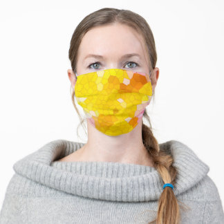 Honey and Cream Stained Glass Pattern Adult Cloth Face Mask