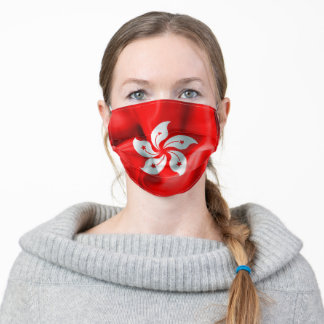 Hong Kong Flag Adult Cloth Face Mask