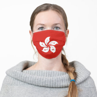 Hong Kong flag country flag symbol nation ethnic Adult Cloth Face Mask
