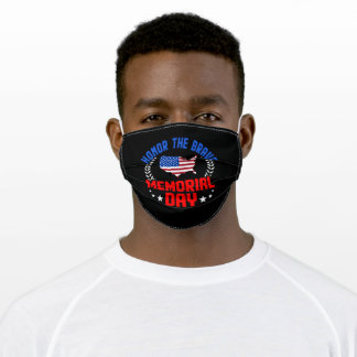 Honor The Brave Memorial Day 2021 Adult Cloth Face Mask