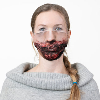 Horror Zombie face Creepy Adult Cloth Face Mask
