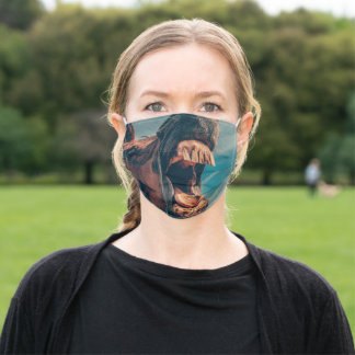 Horse mouth adult cloth face mask