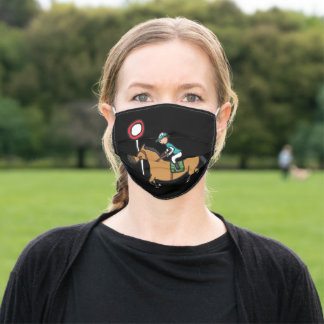 Horse Racing Adult Cloth Face Mask