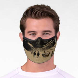 Horse Racing Muddy Track Grunge Premium Face Mask