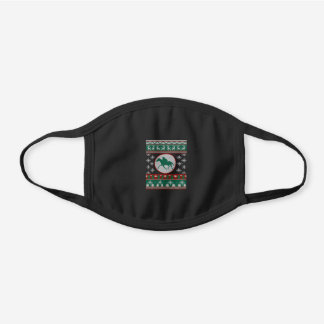 Horse Racing ugly christmas gift idea H Black Cotton Face Mask