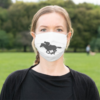 Horseman  silhouette adult cloth face mask