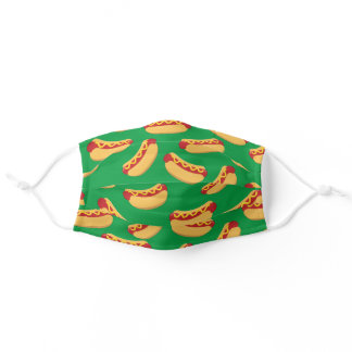 Hot Dogs Summer Hotdog Food Print Adult Cloth Face Mask