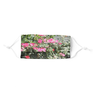 Hot Pink Flowers Adult Cloth Face Mask