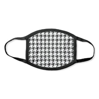 Houndstooth Black and white Face Mask