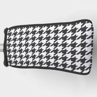 Houndstooth, black and White Golf Head Cover