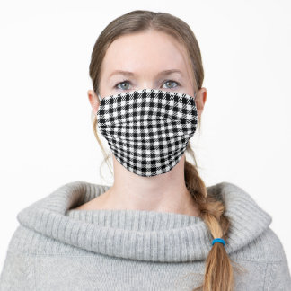 Houndstooth Style Check Pattern Adult Cloth Face Mask