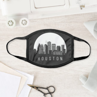 Houston Texas Skyline Face Mask