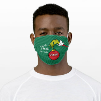 How the Grinch Stole Christmas Face Adult Cloth Fa Adult Cloth Face Mask