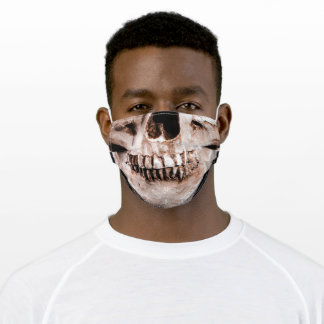 Human Skull Face with Great Teeth Cloth Face Mask