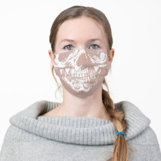 Human skull Simple Pale skin Adult Cloth Face Mask