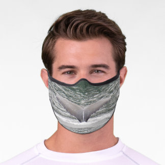 Humpback whale tail face mask