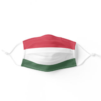 Hungarian flag adult cloth face mask