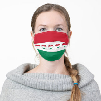 Hungarian Flag & Hearts Mask - Hungary/sport fans