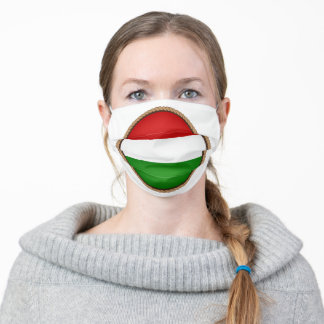 Hungarian Flag Seal Adult Cloth Face Mask