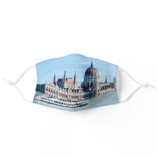 Hungarian Parliament Building in Budapest city Adult Cloth Face Mask