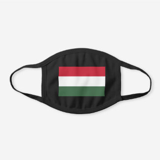 Hungary Flag Hungarian Patriotic Black Cotton Face Mask