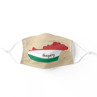 Hungary Flag Silhouette Adult Cloth Face Mask