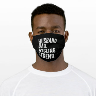 Husband Dad Cycling Legend Fathers Day Adult Cloth Face Mask
