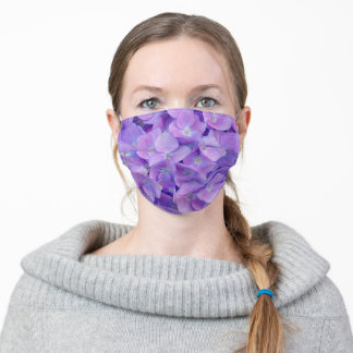 Hydrangea lilac adult cloth face mask