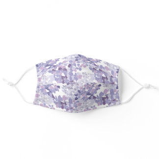 Hydrangea Pattern - Illustrated Purple Floral Adult Cloth Face Mask