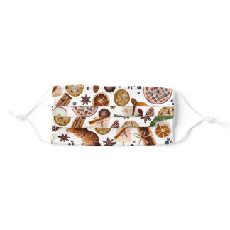 Hygge Christmas Cookie Pattern Adult Cloth Face Mask