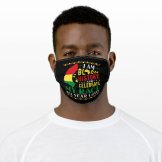 I Am Black History African American Proud Black Adult Cloth Face Mask
