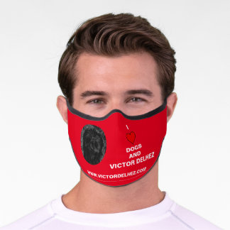 I love dogs Premium Face Mask (red)