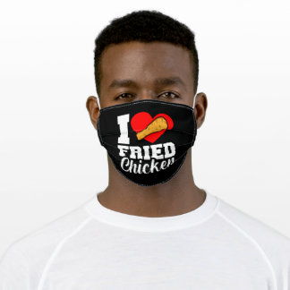 I Love Fried Chicken Funny Eater Graphic Adult Cloth Face Mask