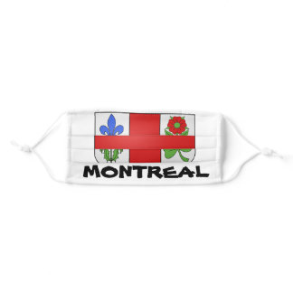 I LOVE MONTREAL  ! MONTREAL , QUEBEC , CANADA . ADULT CLOTH FACE MASK
